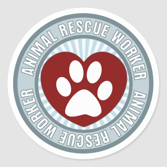 Animal Resuce Worker Animal Rescue Sticker