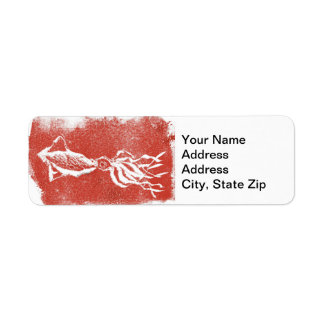 Animal Return Address Label Giant Squid