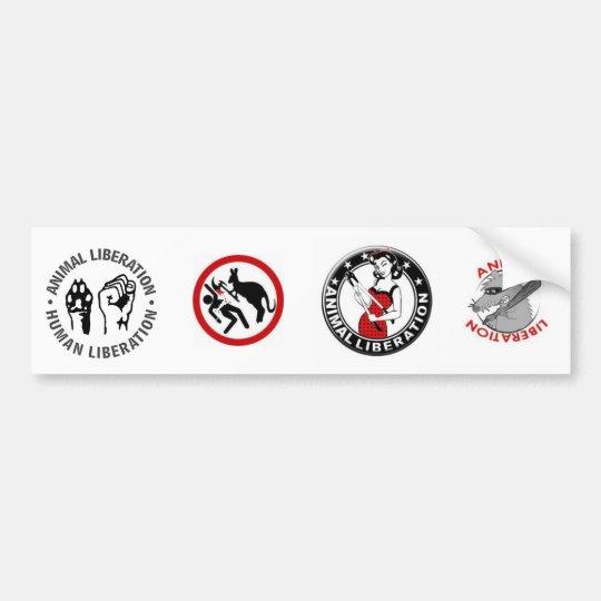 Animal Rights (4 in 1) Bumper Sticker