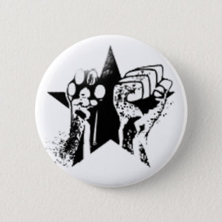 Animal rights badge button