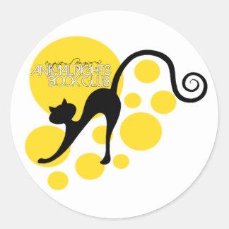 Animal Rights Book Club Classic Round Sticker