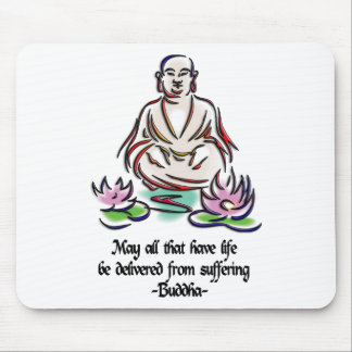 Animal Rights Buddha Quote Mouse Pad