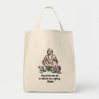 Animal Rights Buddha Quote Tote Bag