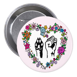 Animal rights button. pinback button