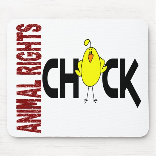 Animal Rights Chick 1 Mouse Mat
