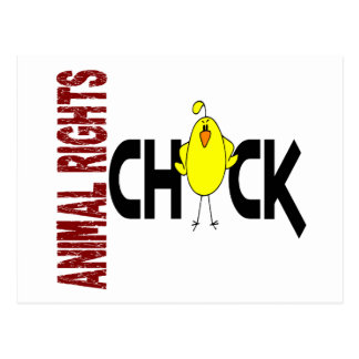 Animal Rights Chick 1 Postcard