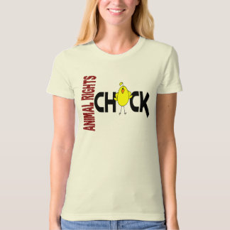Animal Rights Chick 1 T-shirts