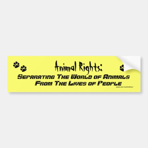 Animal Rights Definition Bumper Sticker Zazzle