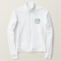 Animal Rights Embroidered Winter Jacket