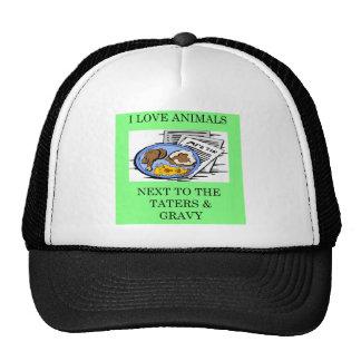 animal rights food police joke trucker hat