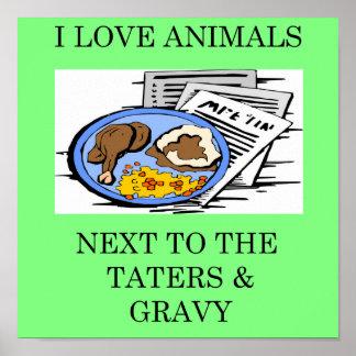 animal rights food police joke poster