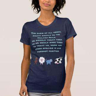 Animal Rights Golden Rule Cute Cartoon Animals T-Shirt