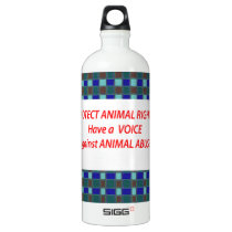 Animal Rights-Healty Living Habitat in Wild being Aluminum Water Bottle