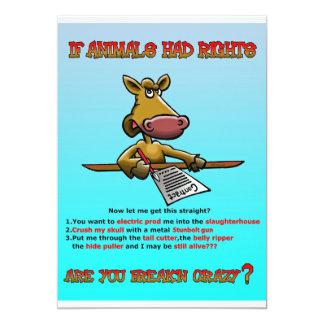 ANIMAL RIGHTS 5X7 PAPER INVITATION CARD