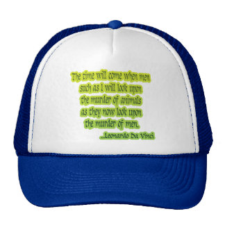 Animal Rights Leonardo Da Vinci Trucker Hat