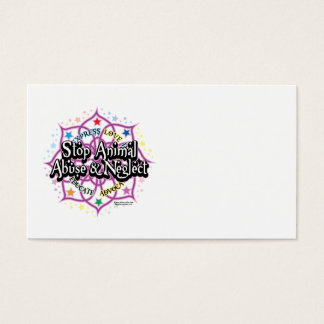 Animal Rights Lotus Business Card