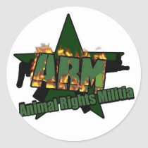 Animal Rights Militia Classic Round Sticker