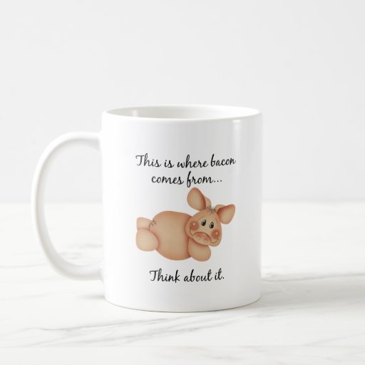 Animal Rights Pig Gift Coffee Mug