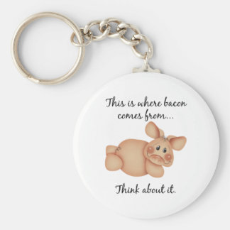 Animal Rights Pig Gift Keychains