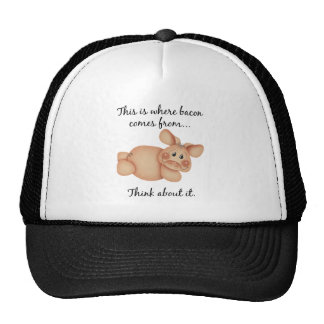 Animal Rights Pig Gift Trucker Hat