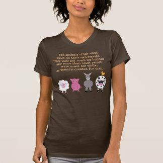 Animal Rights Quote Cartoon Animals Customizable T-shirts
