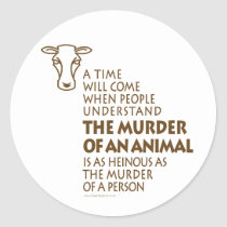 Animal Rights Quote Classic Round Sticker