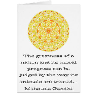 animal rights quote - Mahatma Gandhi Card