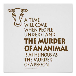 Animal Rights Quote Poster