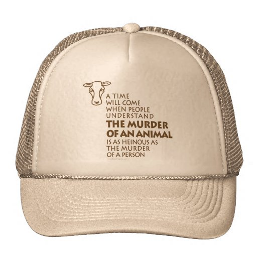 Animal Rights Quote Trucker Hat