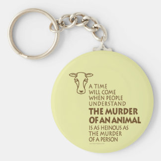 Animal Rights Quote, Vegetarian Keychain