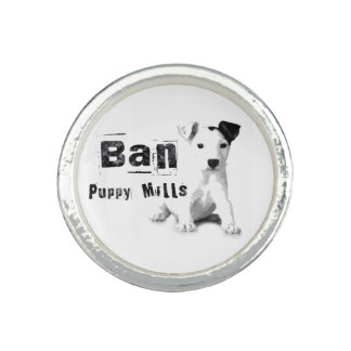 Animal rights ring ban puppy mills dog lover ring photo rings