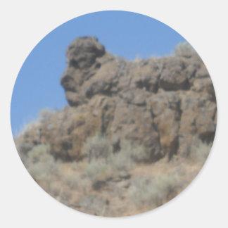 Animal Rock Formation Classic Round Sticker