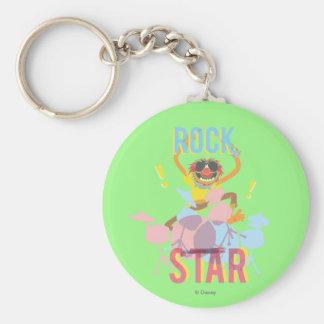 Animal - Rock Star Basic Round Button Keychain