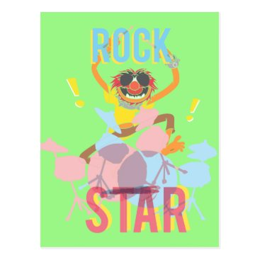 Disney Themed Animal - Rock Star Postcard