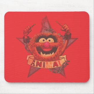 Animal - rojo alfombrilla de raton