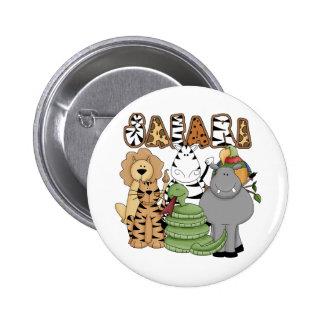 Animal Safari 2 Inch Round Button
