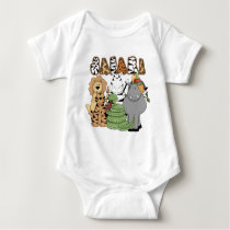 Animal Safari Baby Bodysuit