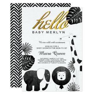 Animal Safari Baby Shower Invite