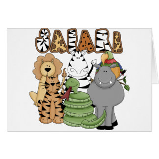 Animal Safari Greeting Cards