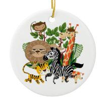 Animal Safari Ceramic Ornament