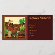 Animal Safari Invitation