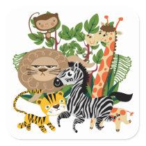 Animal Safari Square Sticker