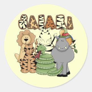 Animal Safari Round Stickers