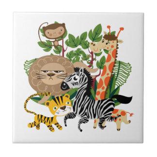 Animal Safari Small Square Tile