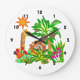 Animal Safari Wall Clock