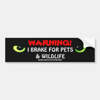 ANIMAL SAFETY Bumper Sticker Collection
