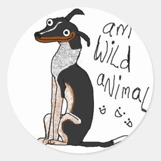 Animal salvaje de la etiqueta redonda