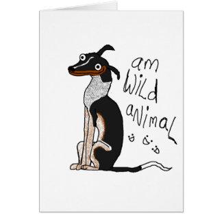 Animal salvaje de la tarjeta