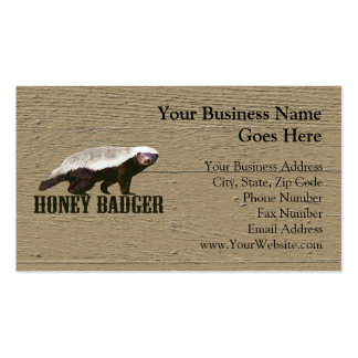 Animal salvaje del tejón de miel tarjetas de visita