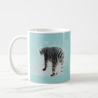 Animal salvaje del tigre blanco taza